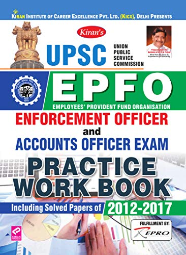Kiran UPSC EPFO Enforcement Officer and Accounts Officer Exam Practice Work Book (English)(2902