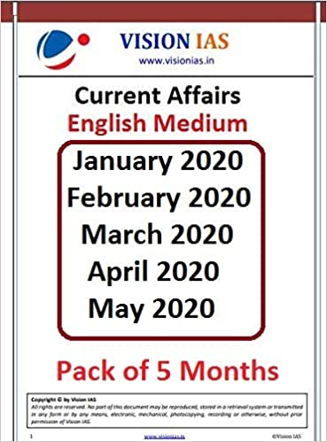 Vision IAS Current Affairs 2020 [Pack of 5 Months] Paperback – 1 January 2020