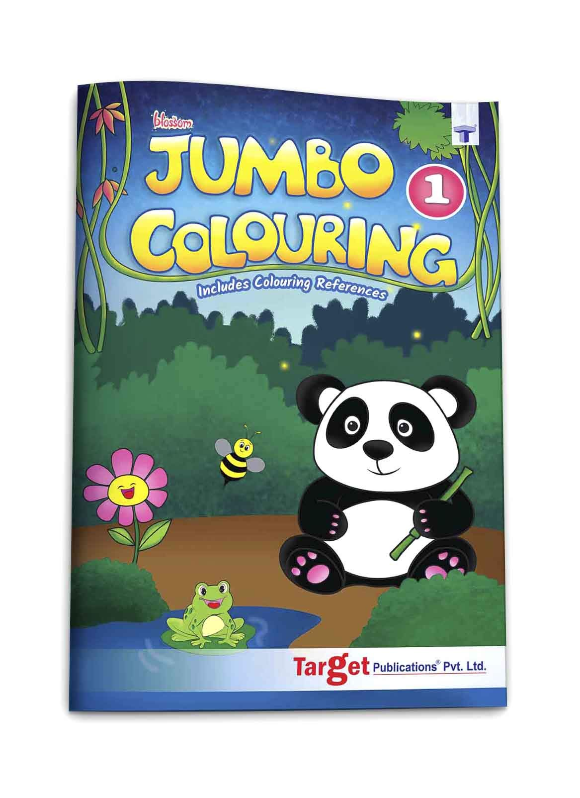 Blossom Jumbo Creative Colouring Book for Kids | 3 to 5 years old | Best Gift to Children for Drawing, Coloring and Painting with Colour Reference Guide | A3 Size | Level 1