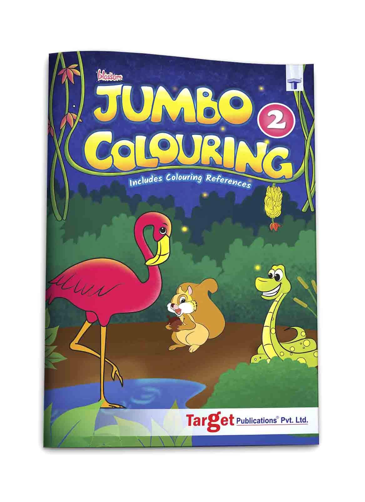Blossom Jumbo Creative Colouring Book for Kids | 5 to 7 years old | Best Gift to Children for Drawing, Coloring and Painting with Colour Reference Guide | A3 Size | Level 2 Paperback – 1 January 2019