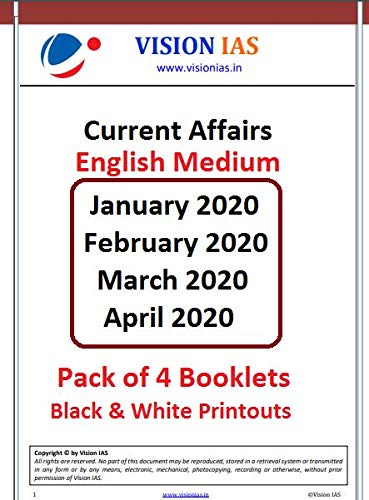 Vision IAS Current Affairs 2020 [Pack of 4 Months] Paperback – 1 January 2020
