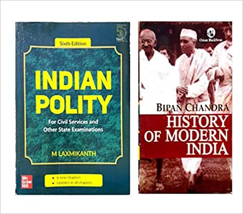 Indian Polity - For Civil Services and Other State Examinations | 6th Edition And History of Modern India ( Set of 2 Books) Paperback – 1 January 2019